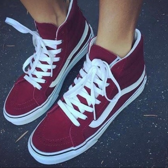 Vans Shoes | Vans Sk8hi Maroon Burgundy